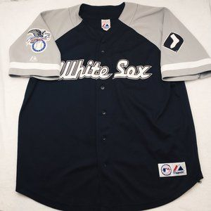 Majestic Chicago White Sox Black Blank Jersey XL